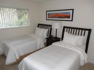 Americké postele v dočasném bytě